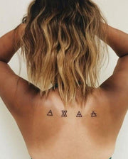 Geometric Triangles Tattoo.