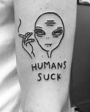 Humans Suck Tattoo.