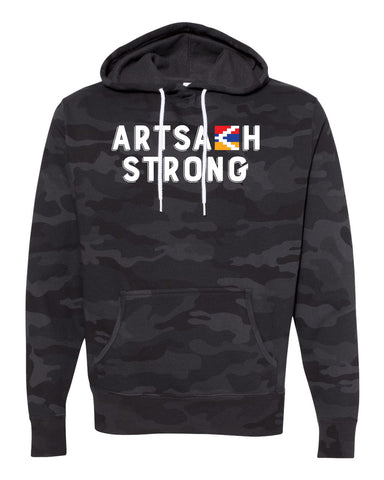 Artsakh Strong Black Camo Hoody