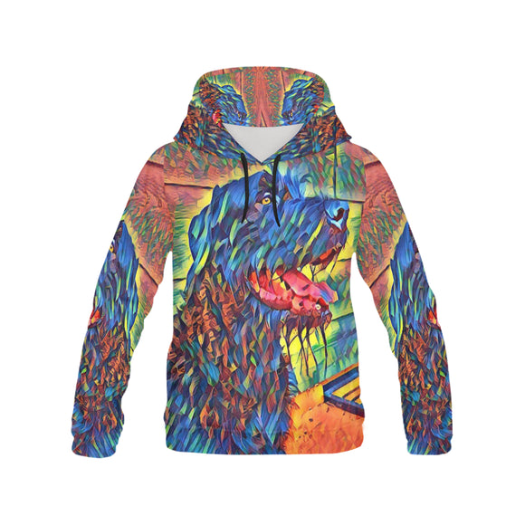 Rainbow  Rescue  - Hoodie for Men (USA Size) (Model H13) - wolfhound wearables All Over Print Hoodie for Men (H13) - dog art  All Over Print Hoodie for Men (H13) - pet art All Over Print Hoodie for Men (H13) - dog shirt