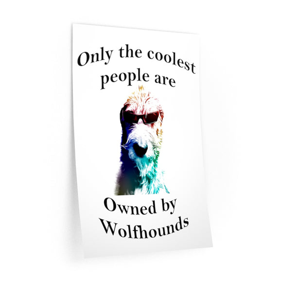Coolest People - Wall Decals - wolfhound wearables Wall Decal - dog art  Wall Decal - pet art Wall Decal - dog shirt