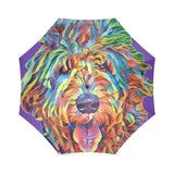 Crazy Hair Foldable Umbrella - wolfhound wearables Foldable Umbrella - dog art  Foldable Umbrella - pet art Foldable Umbrella - dog shirt