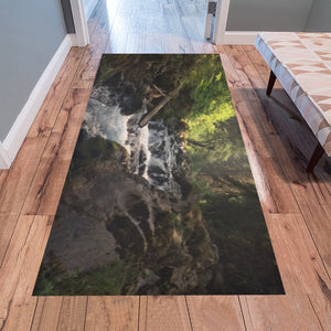 Forest Waterfall - Floor Mat Area Rug 7'x3'3'' - wolfhound wearables Area Rug 7'x3'3'' - dog art  Area Rug 7'x3'3'' - pet art Area Rug 7'x3'3'' - dog shirt