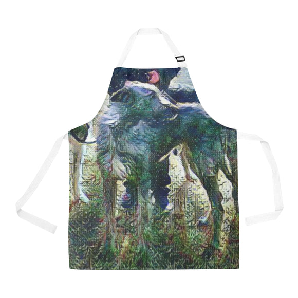Stormy Night Wolfhound Apron - wolfhound wearables All Over Print Apron - dog art  All Over Print Apron - pet art All Over Print Apron - dog shirt