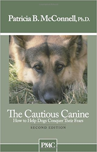 The Cautious Canine-How to Help Dogs Conquer Their Fears - wolfhound wearables book - dog art  book - pet art book - dog shirt