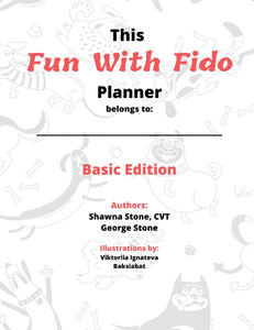 Fun With Fido Planners - Basic Dog Lovers Edition ~ DOWNLOADABLE VERSION - wolfhound wearables Downloadables - dog art  Downloadables - pet art Downloadables - dog shirt