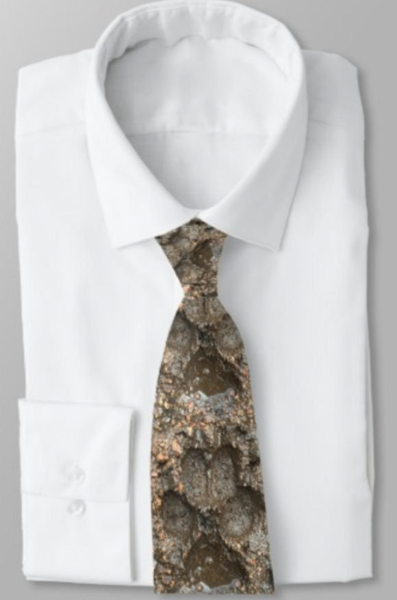 Wolfhound Tracks Men's Tie - wolfhound wearables Necktie - dog art  Necktie - pet art Necktie - dog shirt