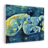 Canvas Gallery Wraps - wolfhound wearables Canvas - dog art  Canvas - pet art Canvas - dog shirt