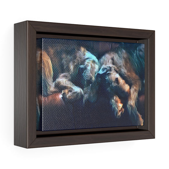 Bráithre Grámhara  - Horizontal Framed Premium Gallery Wrap Canvas - wolfhound wearables Canvas - dog art  Canvas - pet art Canvas - dog shirt