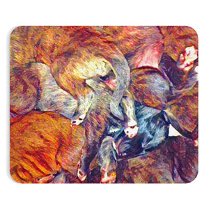 Puppy Pile! - Mousepad - wolfhound wearables Home Decor - dog art  Home Decor - pet art Home Decor - dog shirt