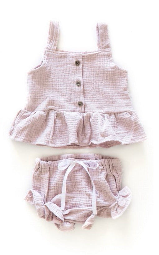 Adella Ruffle Outfit in Lavender - Reverie Threads