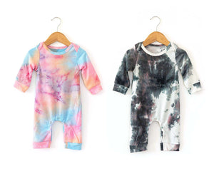 Karma Coverall in Rainbow Tie Dye - Reverie Threads