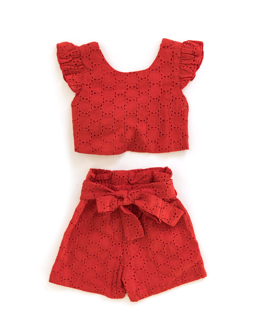 Ariana Outfit in Red - Reverie Threads