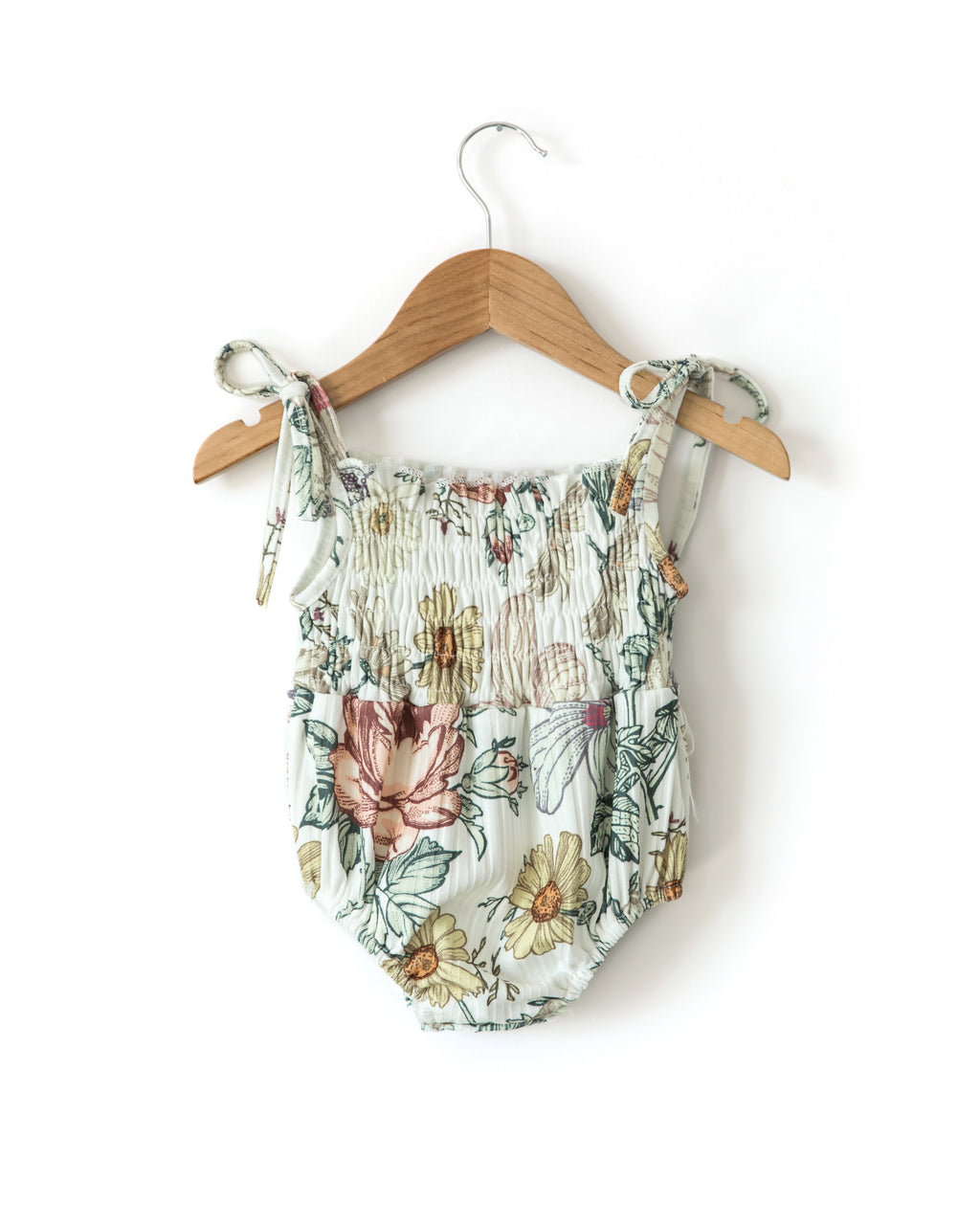 Ruby Ribbed Romper in Spring Floral - Reverie Threads