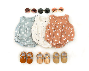 Daisy Romper in Cream - Reverie Threads