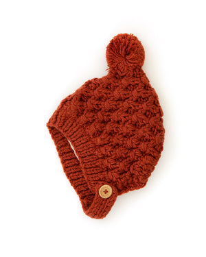 Noelle Knit Beanie in Autumn Red - Reverie Threads