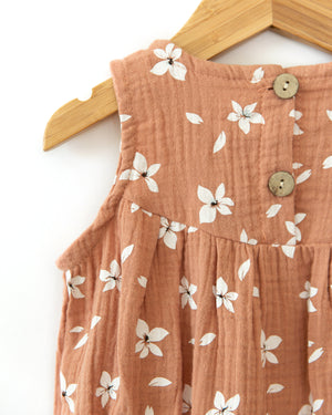 Daisy Romper in Earthy Pink - Reverie Threads