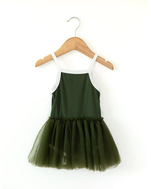 Alissa Dress in Hunter Green - Reverie Threads