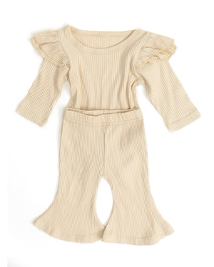 Cecily Outfit in Oatmeal - Reverie Threads