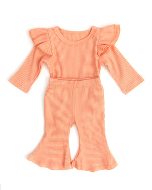 Cecily Outfit in Peach Sorbet - Reverie Threads