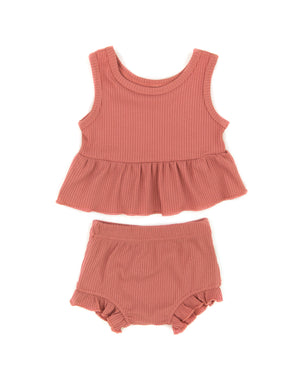 Harmony Peplum Outfit in Pink - Reverie Threads