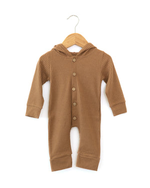 Charlie Hooded Coverall in Brown - Reverie Threads