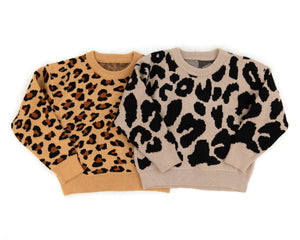 Vera Sweater in Beige Leopard - Reverie Threads