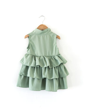 Grace Ruffle Dress in Dusty Mint - Reverie Threads