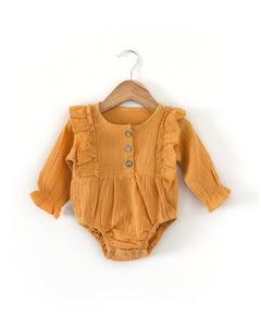 Mae Romper in Orange - Reverie Threads