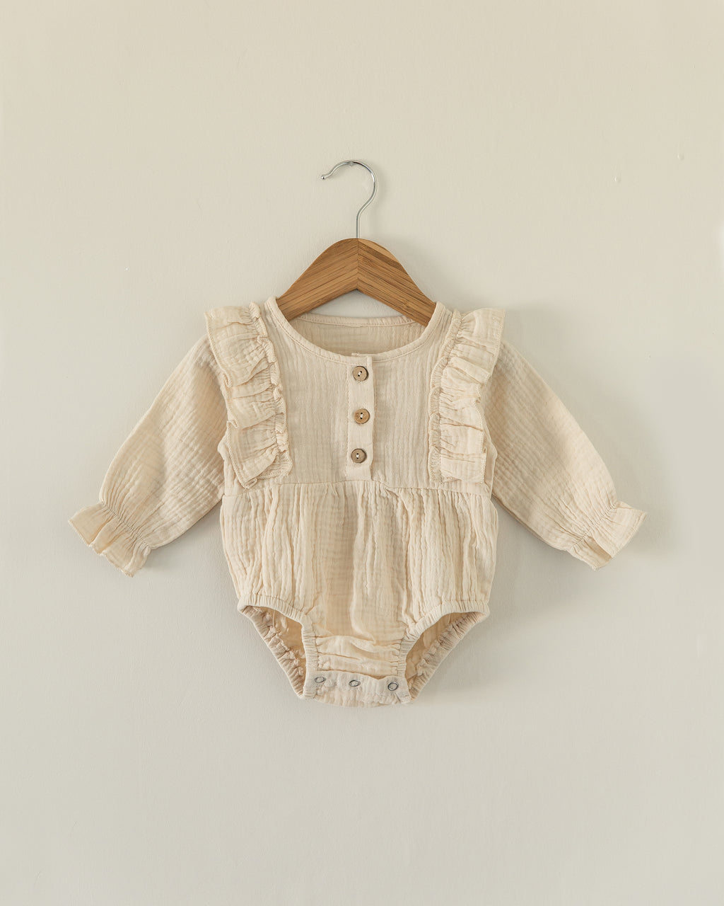 Mae Romper in Oatmeal - Reverie Threads