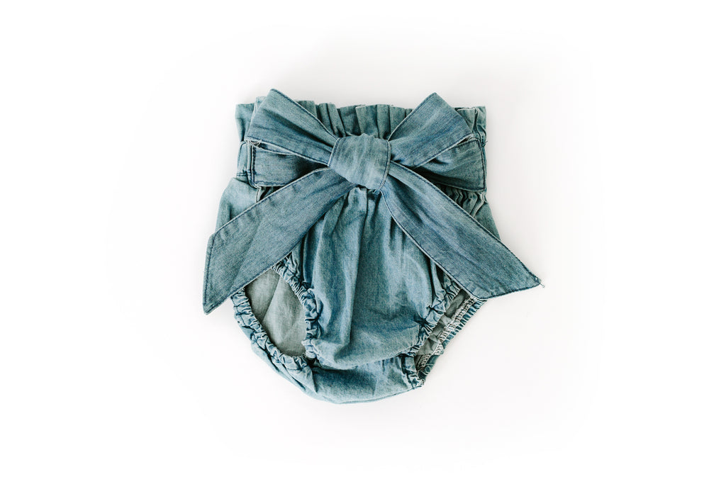 High Waisted Denim Bloomers - Reverie Threads