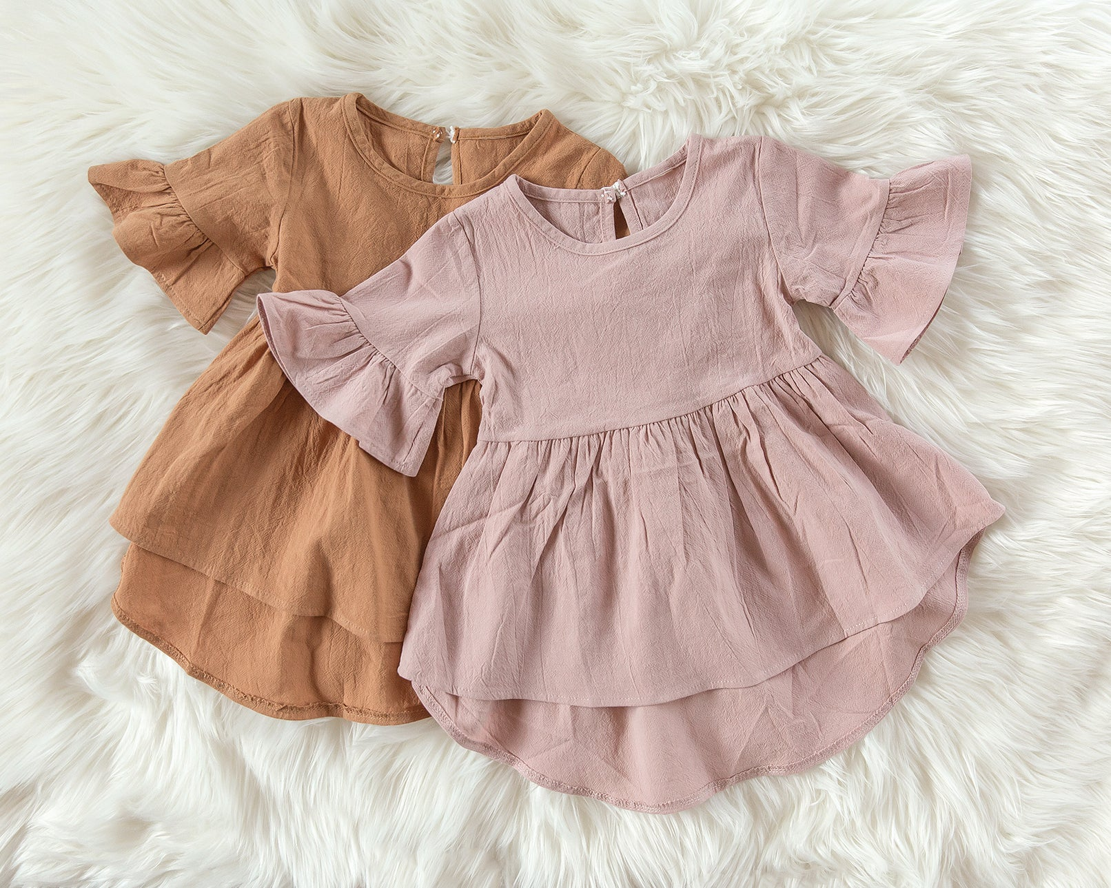 Lila Dress Tunic in Dusty Orange