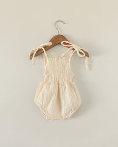 Ruby Romper in Cream - Reverie Threads