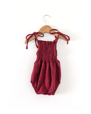 Ruby Romper in Maroon