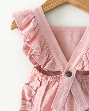 Evelyn Romper in Blush Pink