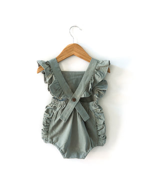 Evelyn Romper in Sage Green