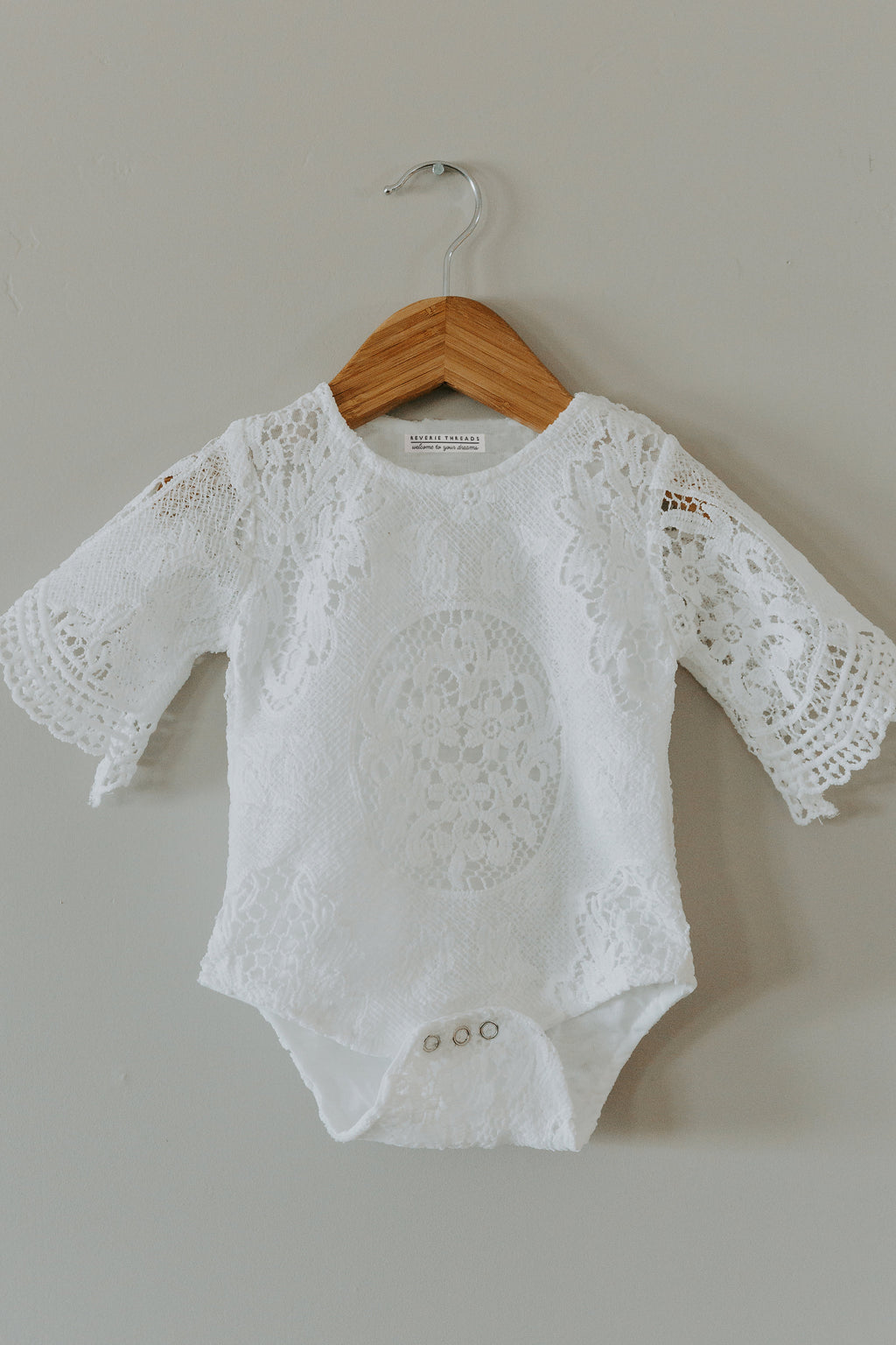 Lace Bell Sleeved Romper - Reverie Threads