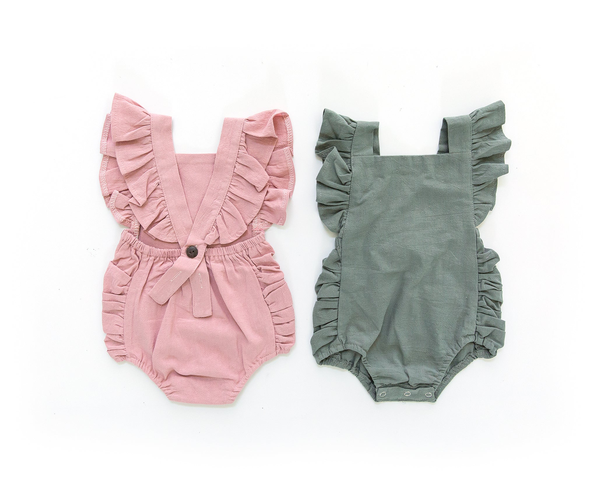 Evelyn Romper in Sage Green - Reverie Threads
