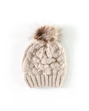 Mommy & Me Cozy Knit Beanie in Beige - Reverie Threads