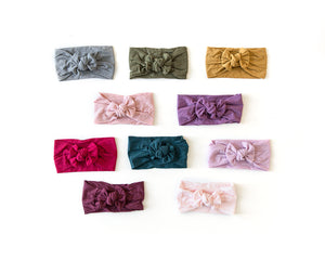 Nylon Knot Headband in Blush