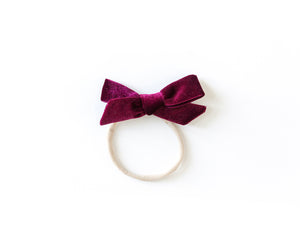 Velvet Bow in Burgundy