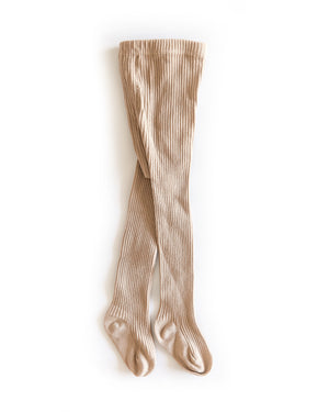 Ribbed Knit Tights in Caramel - Reverie Threads