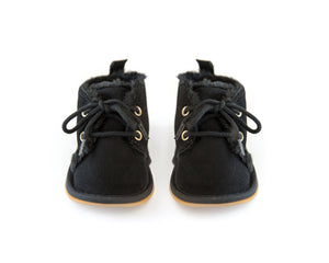 Fur Ankle Boots in Black - Reverie Threads