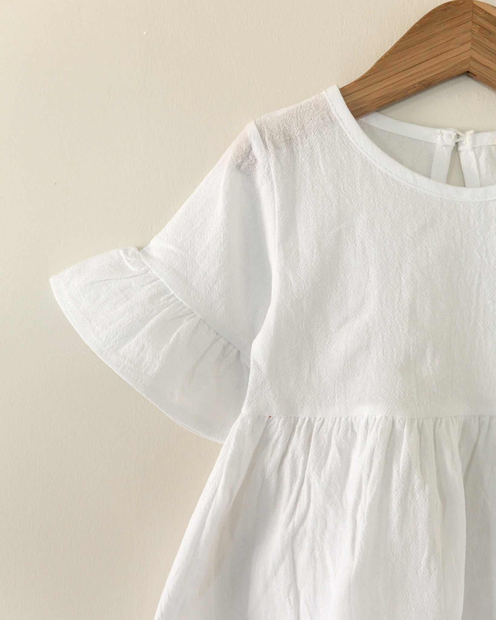 Lila Dress Tunic in White - Reverie Threads