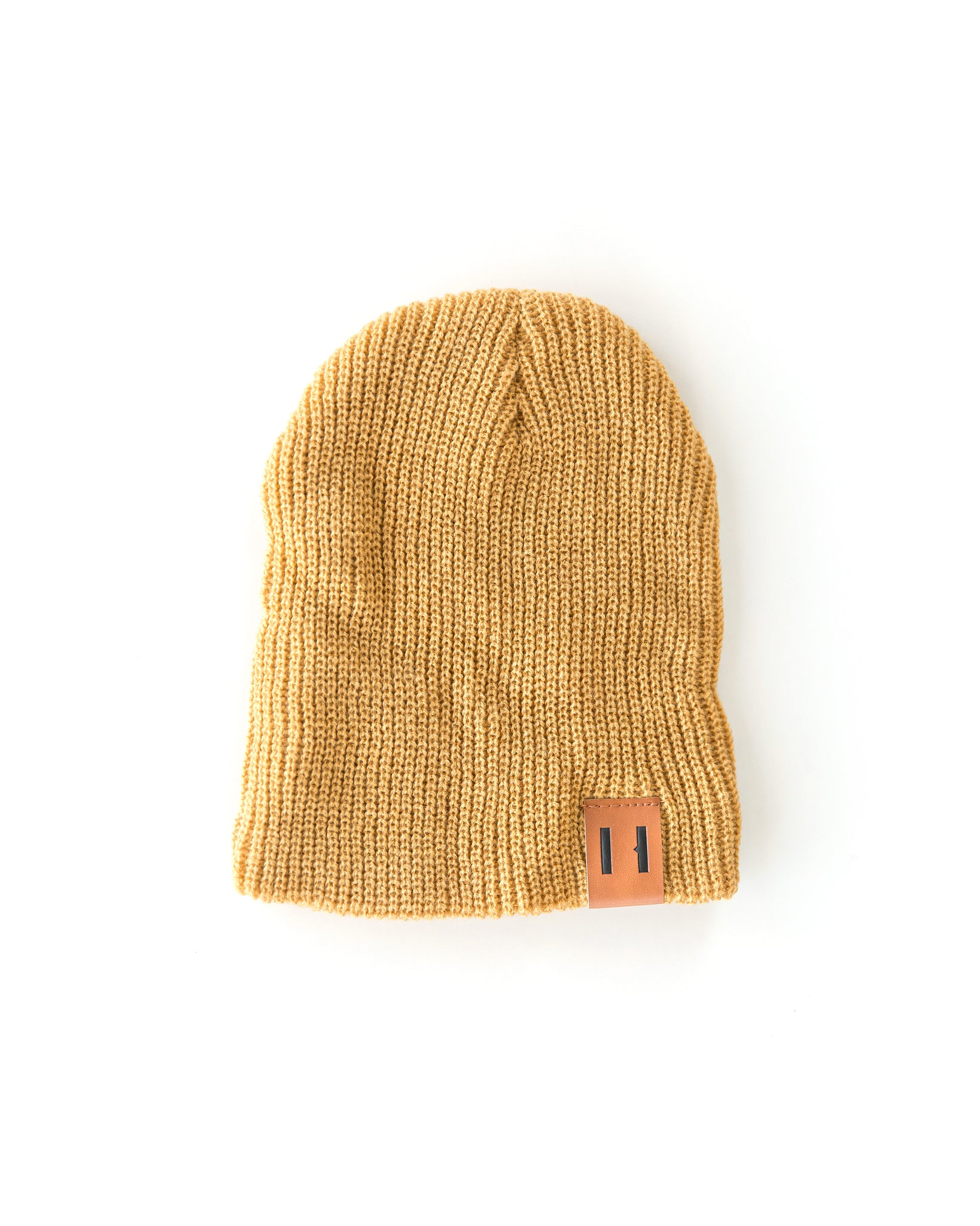 Daddy & Me Dude Beanie in Mustard Yellow - Reverie Threads