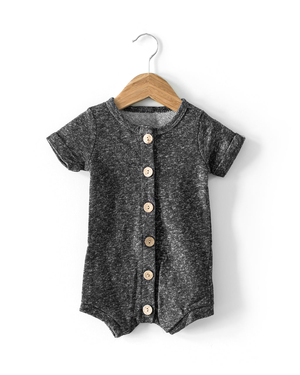 Classic Romper in Charcoal - Reverie Threads