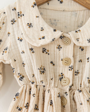Primrose Dress in Floral Cream - Reverie Threads