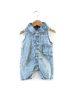 Fray Denim Romper - Reverie Threads