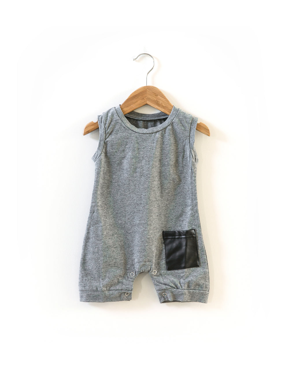 Dude Romper in Gray - Reverie Threads