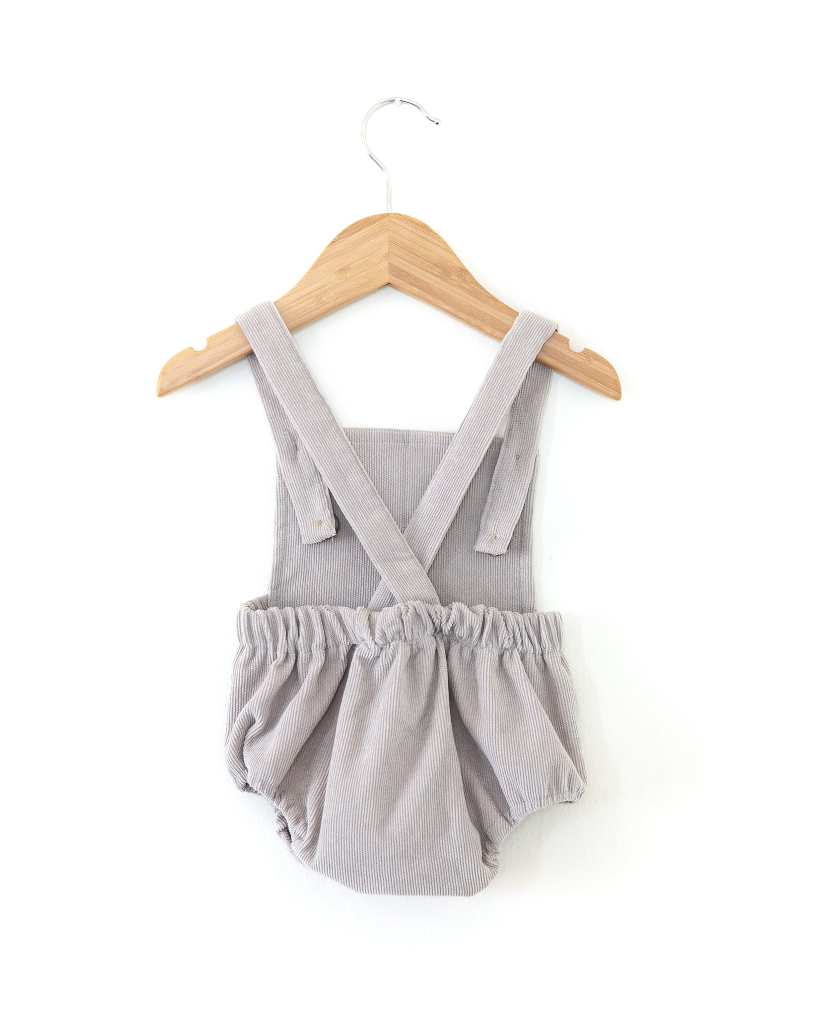 Vintage Corduroy Romper in Gray - Reverie Threads
